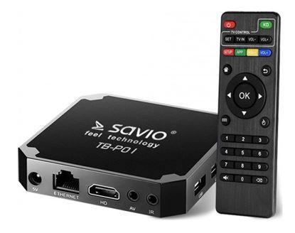 Obrázek Multimediální centrum Savio TB-P01  Multimedia Player Android 7.1  4K UHD  Wifi