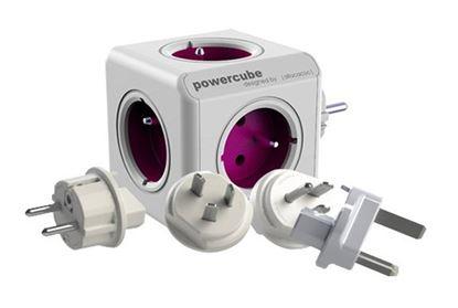 Obrázek Cestovní adaptér Powercube ReWirable + Travel Plugs - fialový