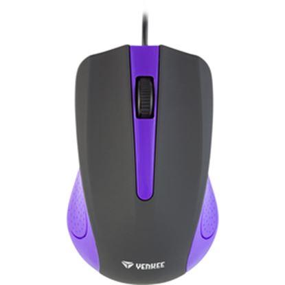 Obrázek YMS 1015PE Myš USB Suva fialová YENKEE