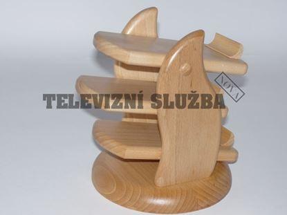 Obrázek Stojan na dálkové ovladače - dřevěný-kruhový-buk