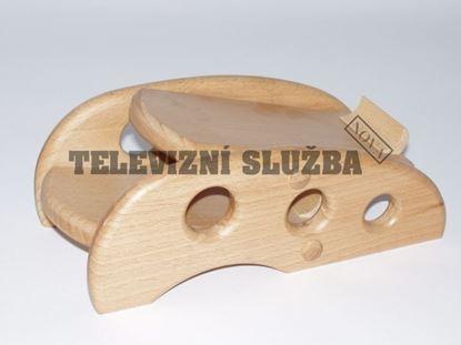 Obrázek Stojan na dálkové ovladače - dřevěný - buk