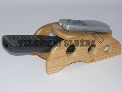 Obrázek Stojan na dálkové ovladače - dřevěný - dub