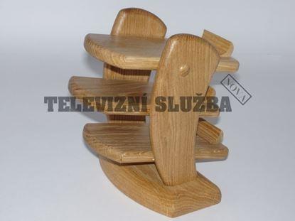Obrázek Stojan na dálkové ovladače - dřevěný-hranatý-dub