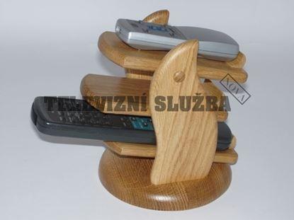 Obrázek Stojan na dálkové ovladače - dřevěný-kruhový-dub