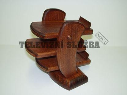Obrázek Stojan na dálkové ovladače - dřevěný-hranatý-buk m