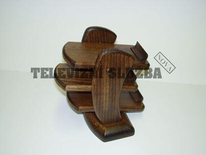 Obrázek Stojan na dálkové ovladače - dřevěný-hranatý-bukmt