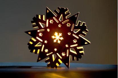 Obrázek Svítící hvězda dřevěnná