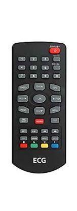 Obrázek Dálkový ovladač DVB-T ECG DVT1150 ČERNÝ