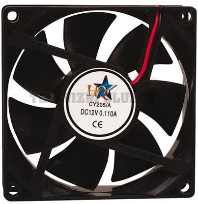 Obrázek Ventilátor 80x80x25mm 12v= - hq