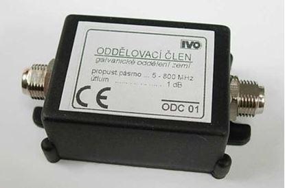 Obrázek Oddělovací galvanický člen 5-800MHz F-konektory