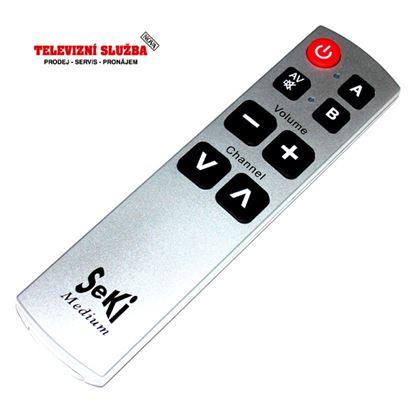 Obrázek Univerzální dálkový ovladač SEKI medium stříbrný