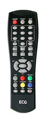 Obrázek Dálkový ovladač DVB-T ECG DVT960 ČERNÝ