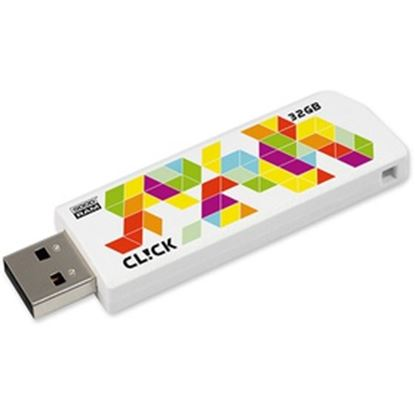 Obrázek USB FD 32GB CL!CK WHITE USB 2.0 GOODRAM