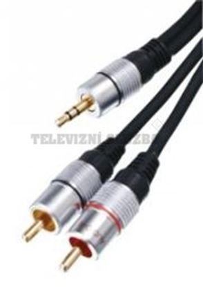 Obrázek Stereo Audio Kabel 3.5mm Zástrčka - 2x CINCH Zástrčka 10.0 m Tmavě Šedá